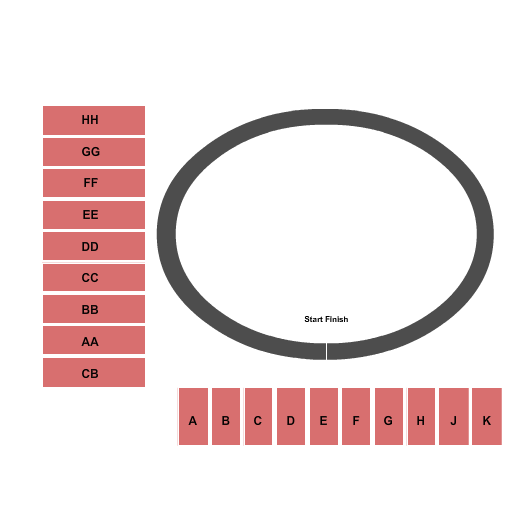 Tulsa Expo Square - Expo Center Seating Map
