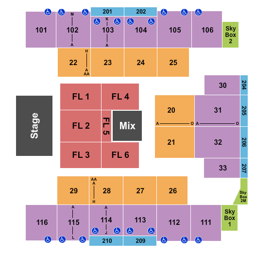 Event Center at Turning Stone Resort & Casino seating chart event tickets center