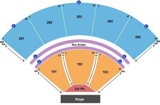 Tuscaloosa Amphitheater seating chart event tickets center