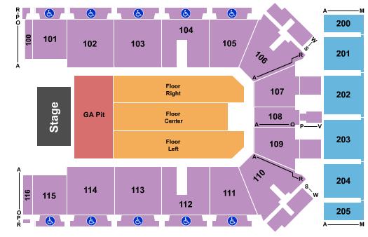 Tyson Events Center - Fleet Farm Arena Floor Plan
