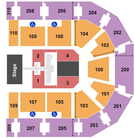 Chesapeake Employers' Insurance Arena Floor Plan