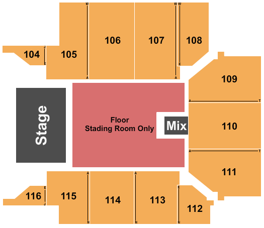 seating chart for UPMC Events Center Evanescence - eventticketscenter.com