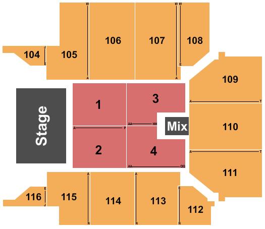 UPMC Events Center Floor Plan