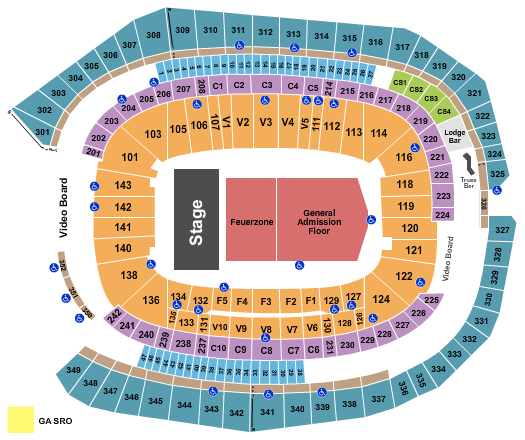 US Bank Stadium Floor Plan