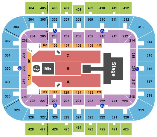 UWM Panther Arena Floor Plan