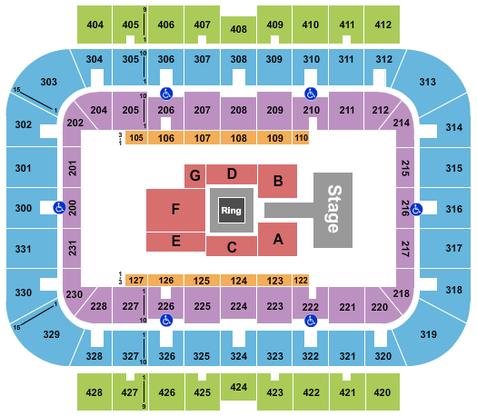 UWM Panther Arena Wrestling seating chart - eventticketscenter.com