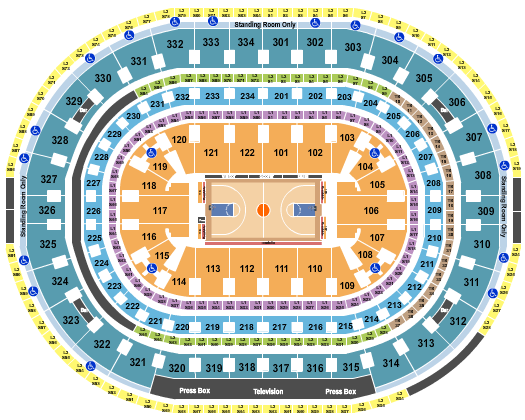United Center Floor Plan