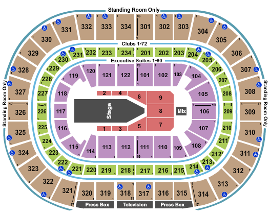 United Center seating chart event tickets center