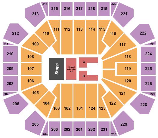 United Supermarkets Arena Floor Plan