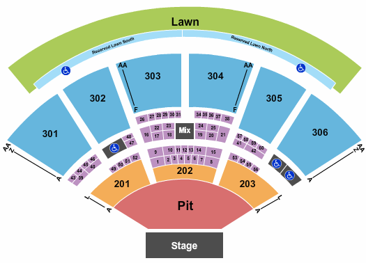 USANA Amphitheatre seating chart event tickets center