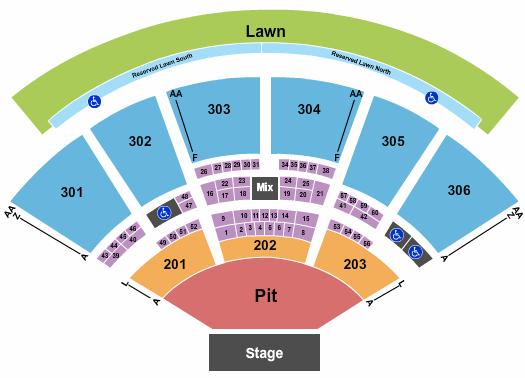 USANA Amphitheatre Floor Plan
