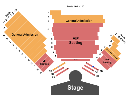V Theater - Planet Hollywood Resort & Casino Seating Map