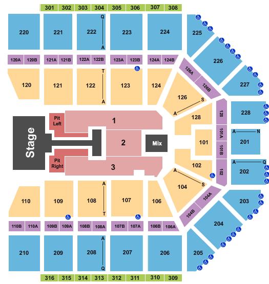 seating chart for Van Andel Arena Chris Tomlin 2022 - eventticketscenter.com