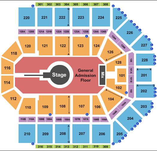 Van Andel Arena Floor Plan