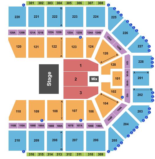 seating chart for Van Andel Arena Half House - eventticketscenter.com