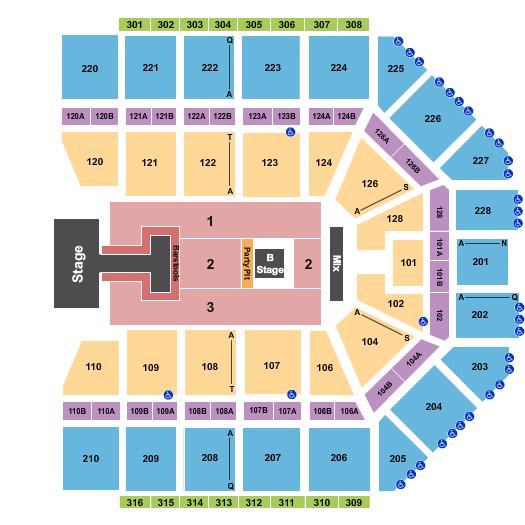 seating chart for Van Andel Arena NKOTB 2022 - eventticketscenter.com