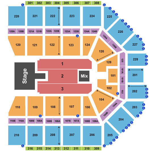 seating chart for Van Andel Arena Pentatonix 2 - eventticketscenter.com