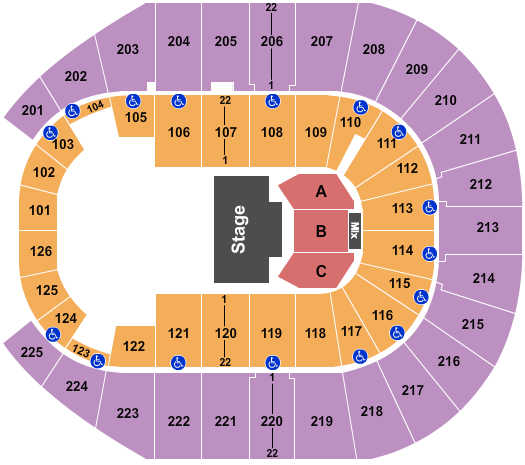 Simmons Bank Arena Seating Chart Plan