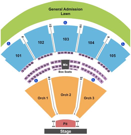 Ameris Bank Amphitheatre seating chart event tickets center