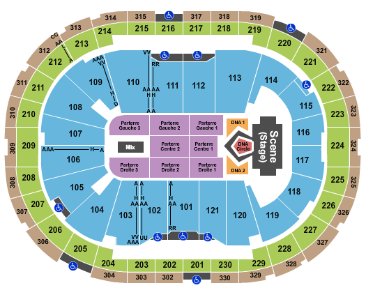 Centre Videotron seating chart event tickets center