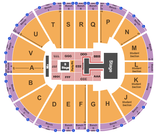 Viejas Arena At Aztec Bowl seating chart event tickets center