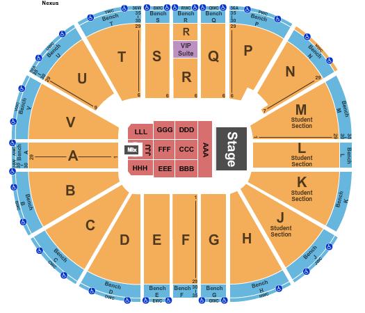 Viejas Arena At Aztec Bowl Floor Plan