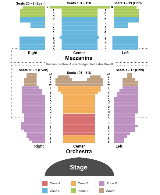 Virginia/August Wilson Theatre - NY Floor Plan