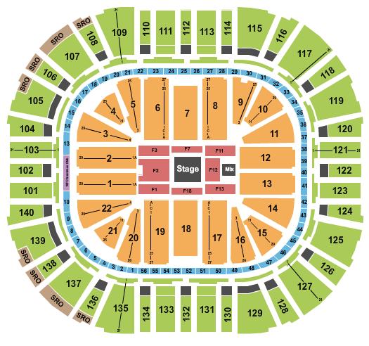 Jim Gaffigan Vivint Smart Home Arena Seating Chart