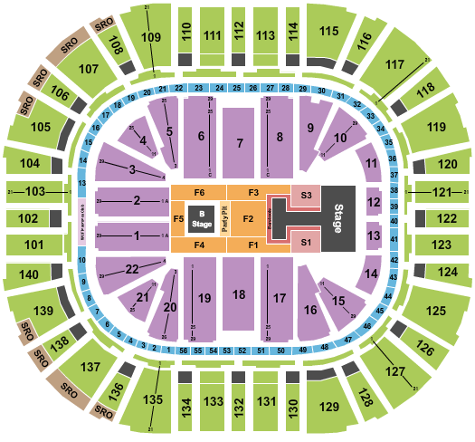 Vivint Arena seating chart event tickets center