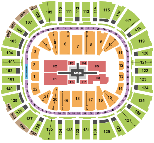 Vivint Smart Home Arena (formerly EnergySolutions Arena) Seating Chart