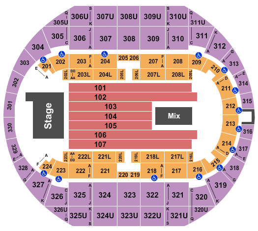 Von Braun Center Arena seating chart event tickets center