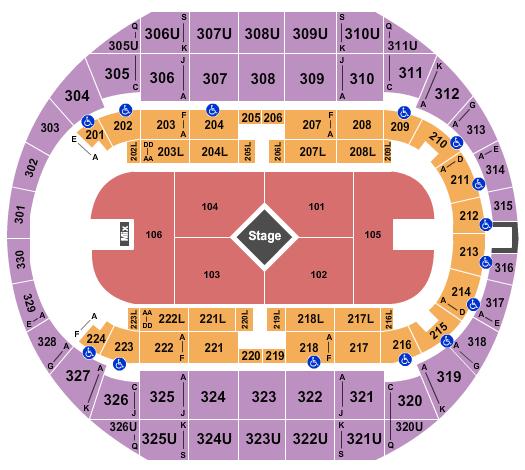 Von Braun Center Arena seating chart event tickets center