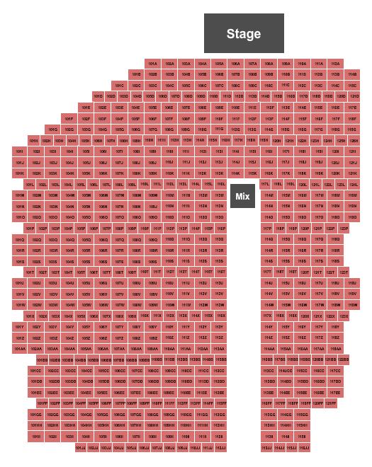 Von Braun Center's 3rd Rock - Outdoor Stage Seating Chart