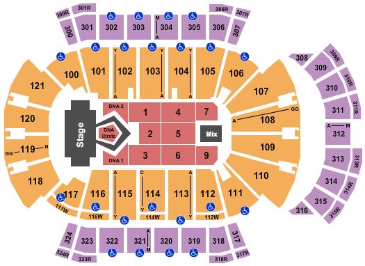 VyStar Veterans Memorial Arena Floor Plan