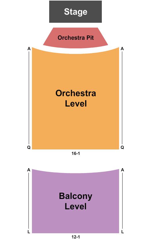 Wayne Theatre - VA Seating Chart