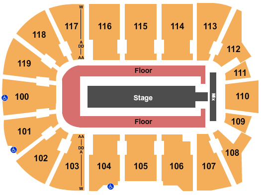 Webster Bank Arena At Harbor Yard seating chart event tickets center