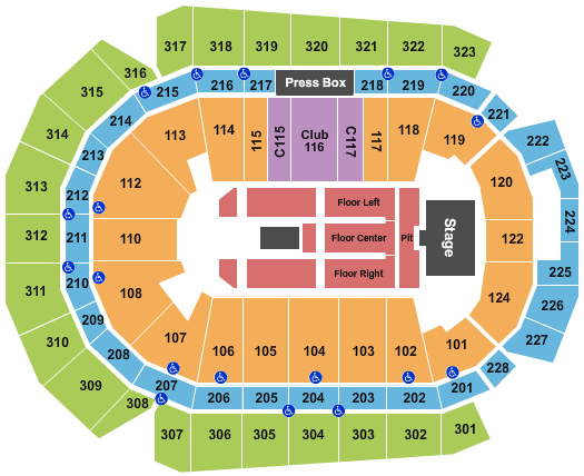 Wells Fargo Arena - IA Floor Plan