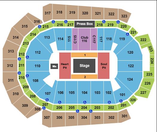 Wells Fargo Arena - IA Floor Plan