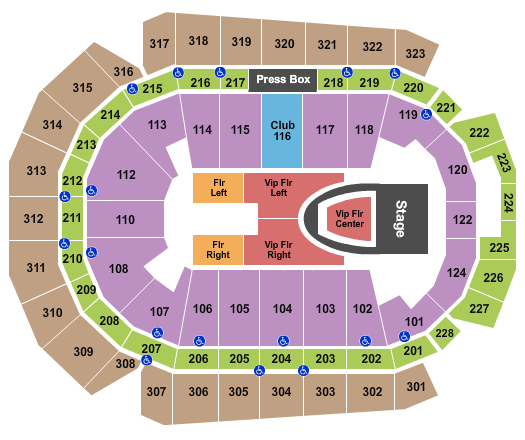 Wells Fargo Arena - IA seating chart event tickets center