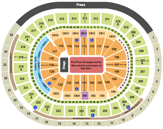 Wells Fargo Center - PA (formerly Wachovia Center) Seating Chart