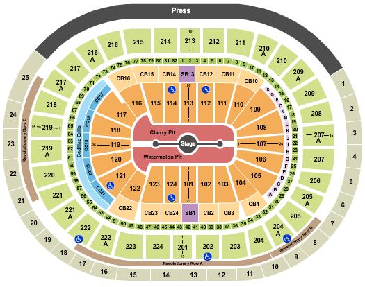 Wells Fargo Center - PA seating chart event tickets center