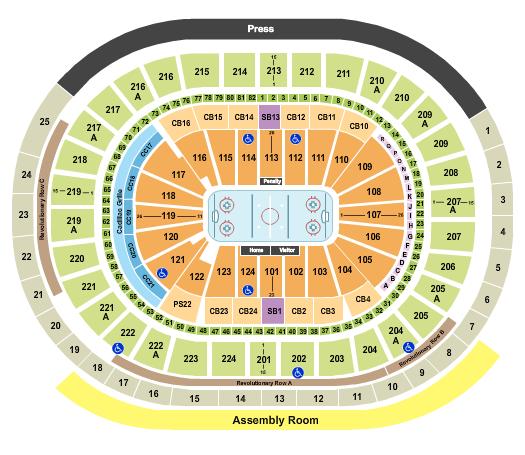 Wells Fargo Center - PA Hockey seating chart - eventticketscenter.com