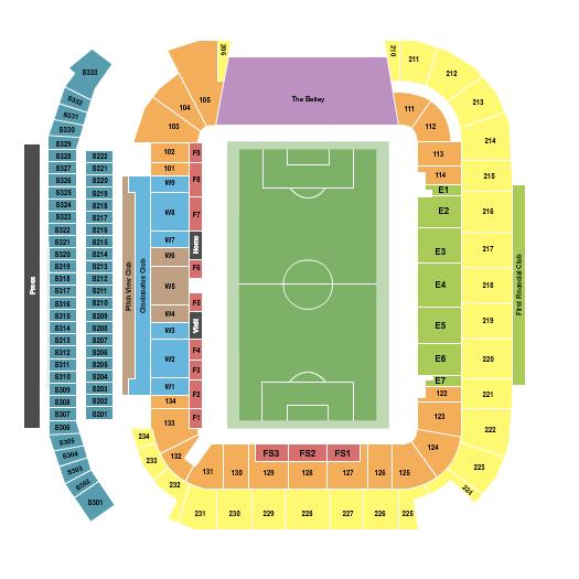 TQL Stadium seating chart event tickets center