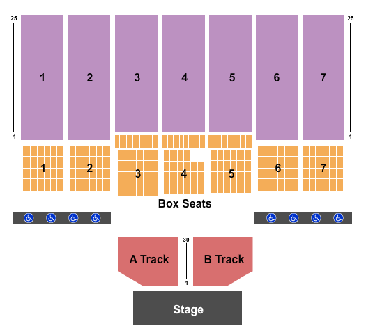 seating chart for West Virginia State Fair Endstage 2 - eventticketscenter.com