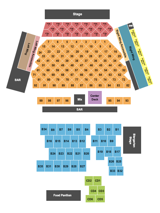 WhiteWater Amphitheater seating chart event tickets center