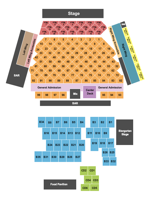 seating chart for WhiteWater Amphitheater Jon Wolfe - eventticketscenter.com