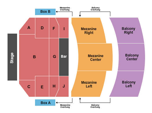 Wilbur Theatre - MA Floor Plan