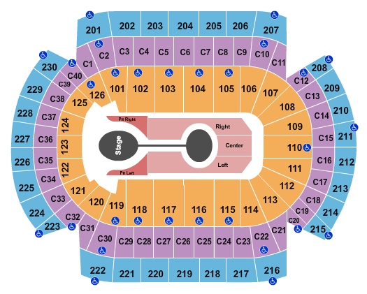 Xcel Energy Center seating chart event tickets center