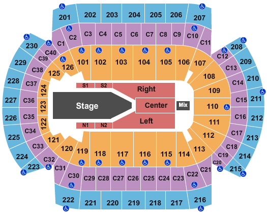 seating chart for Xcel Energy Center The Weeknd - eventticketscenter.com