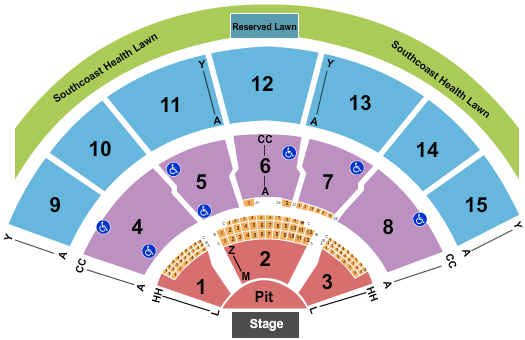 Xfinity Center - MA Dave Matthews Band seating chart - eventticketscenter.com